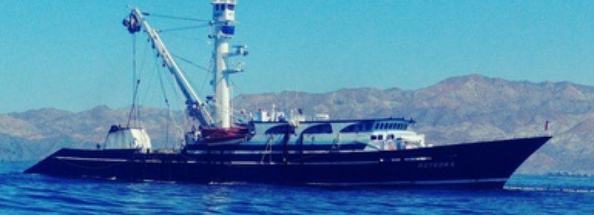 Detienen al barco atunero Azteca 6, por pesca ilegal en la Zona Marina del ANP Reserva de la Biósfera El Vizcaíno, BCS