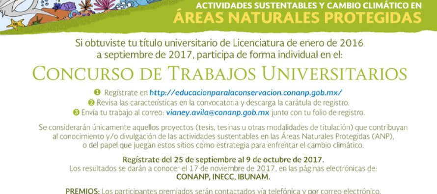 XIII Concurso de Trabajos Universitarios CONANP – INECC – IBUNAM 2017