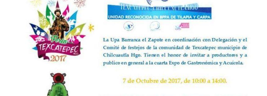 Expo Gastronómica y Acuícola 2017 en Texcatepec, Hidalgo