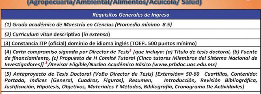 Doctorado en Ciencias en Biotecnología – Universidad Autónoma de Sinaloa