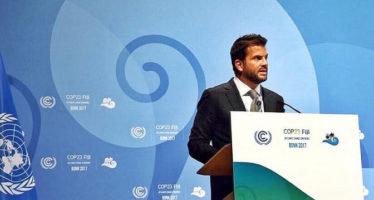 COP23: México pide actuar con urgencia para contener cambio climático