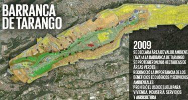 En la Ciudad de México, la Barranca de Tarango está en alto riesgo de desaparecer por construcción de 20 mil viviendas