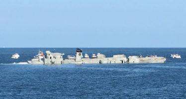 Un buque de la marina mexicana, que concluyó su vida útil y fue hundido para convertido en arrecife artificial
