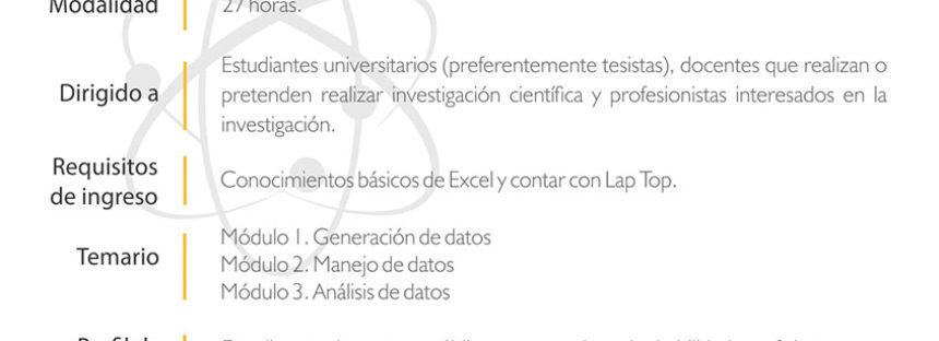 Curso taller: Bases para el diseño, análisis y validación de una investigación