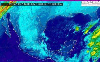 Cero grados en el norte, centro y oriente de México y norte en Istmo de Tehuantepec y Golfo de Tehuantepec