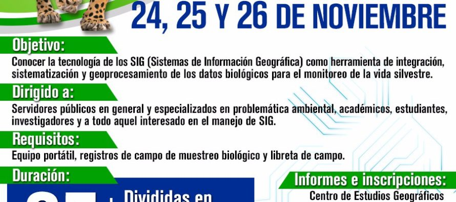Curso Manejo del software QGIS para la gestión de información en el monitoreo de la vida silvestre