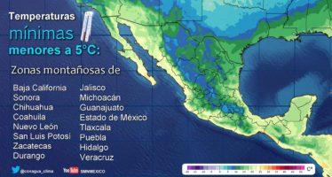 DESCENSO EN LA TEMPERATURA SOBRE EL NORTE Y NORESTE DE MÉXICO, POR EFECTOS DEL FRENTE FRÍO No. 9.