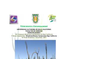 XIV Simposio Binacional de Botánica de Baja California y áreas adyacentes