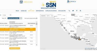 Sismos de mediana intensidad sacuden Istmo de Tehuantepec