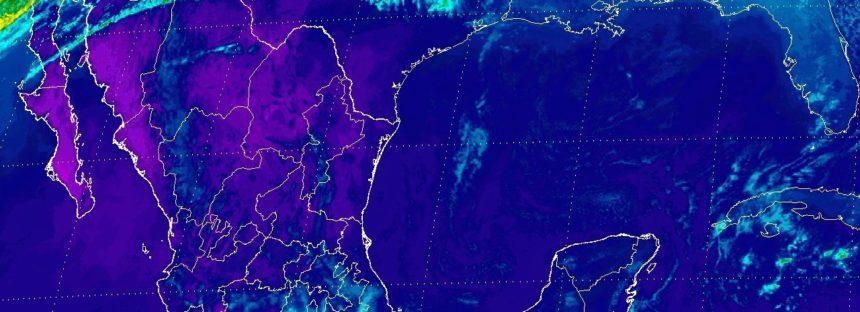 Rachas de viento de más de 50 km/h en la Península de Baja California y lluvias en sureste de México
