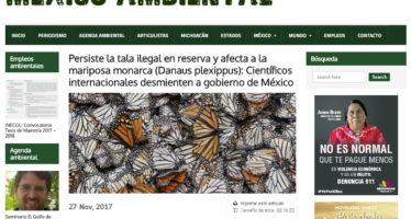 Puntualización del Dr. Alexandro Bitol Leverkus sobre publicación en México Ambiental sobre tala de bosques de la RB Mariposa Monarca