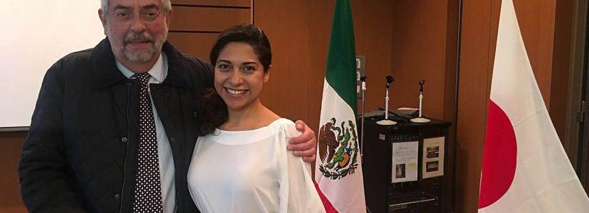 El rector Enrique Graue se reúne con Martha Hidalgo Morales, quien desarrolla un Programa de innovación en la Universidad de Hiroshima