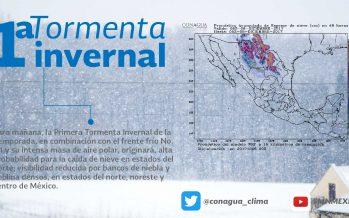 Primera tormenta invernal en el norte de México con nevadas o aguanieve y espesos bancos de niebla