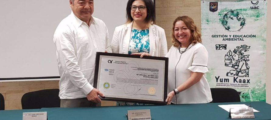 La Universidad Autónoma de Campeche es ambientalmente sustentable