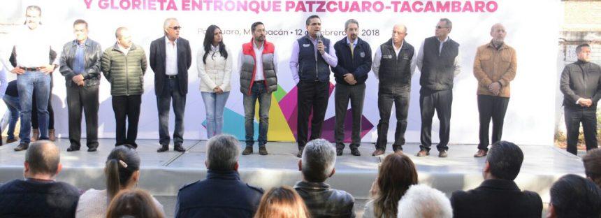 Arranca Silvano Aureoles rehabilitación del Libramiento de Pátzcuaro