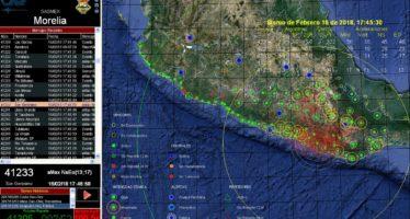 Protección Civil Michoacán atiende protocolo en respuesta al sismo de 7.2 grados del 16 de febrero de 2018