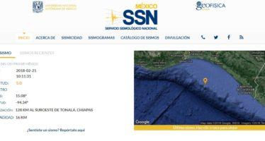 Reporta Sismológico temblor de magnitud 5.1 en Tonalá, Chiapas
