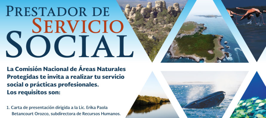 Servicio social y prácticas profesionales en la CONANP