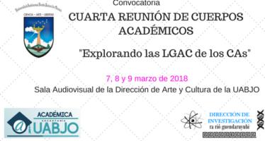 Universidad Autónoma Benito Juárez de Oaxaca convoca a la Cuarta Reunión de Cuerpos Académicos