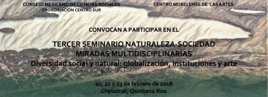 Tercer seminario naturaleza-sociedad miradas multidisciplinarias, diversidad social y natural: globalización, instituciones y arte