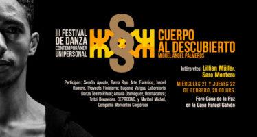 """III feria de danza contemporánea unipersonal """"Cuerpo al descubierto"""""""