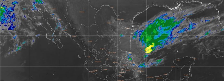 Nublados con lluvias intensas, actividad eléctrica y posibles granizadas en zonas de Puebla y Veracruz