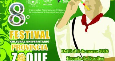 8° festival cultural universitario provincia Zoque