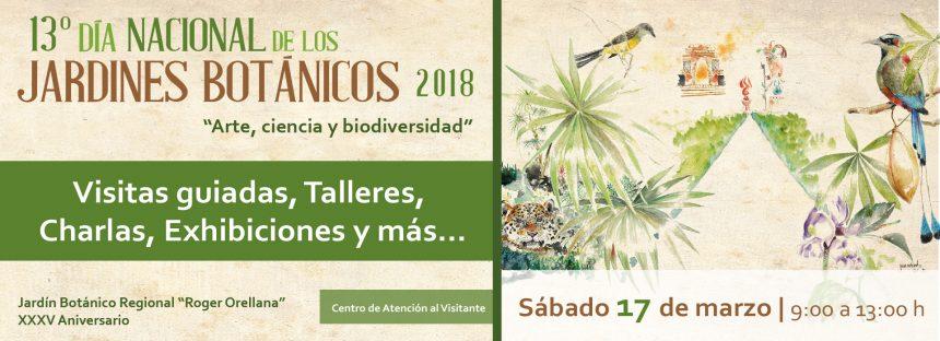 13° día nacional de los jardines botánicos 2018