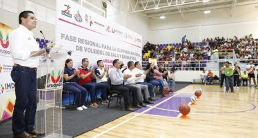Inaugura Gobernador Selectivo Regional rumbo a Olimpiada Nacional 2018 de baloncesto y voleibol de sala