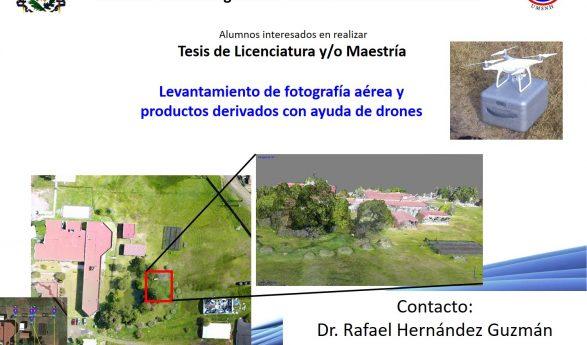 Tesis de titulación con proyecto Levantamiento de fotografía aérea y productos derivados, con ayuda de drones