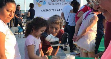Científicos de ECOSUR en la Expociencias 2018 de Chetumal
