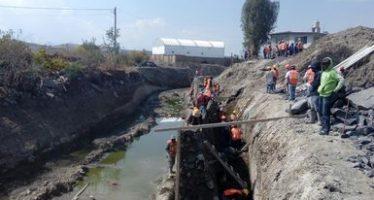 Clausuran proyecto de rectificación de la Barranca La Mora en el tramo Malacatepec-Río Atoyac en Puebla