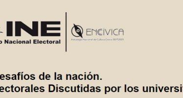 México 2018: los desafíos de la nación. Las plataformas electorales Discutidas por los universitarios.