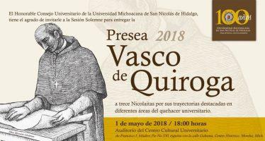 Presea Vasco de Quiroga 2018