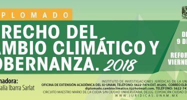 UNAM: Diplomado Derecho del Cambio Climático y Gobernanza, 2018