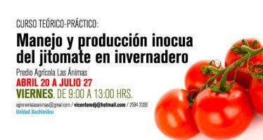 Curso teórico-práctico: Manejo y producción inocua del jitomate en invernadero