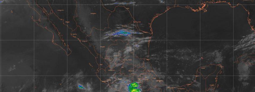 Para las próximas horas se prevén lluvias muy fuertes en regiones de Jalisco, Michoacán, Guerrero y Chiapas