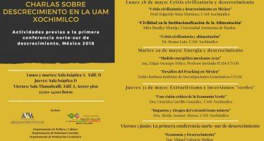 Charlas sobre descrecimiento en la UAM Xochimilco