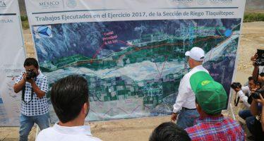 Entregan obras hídricas en Guerrero para uso eficiente de agua de riego