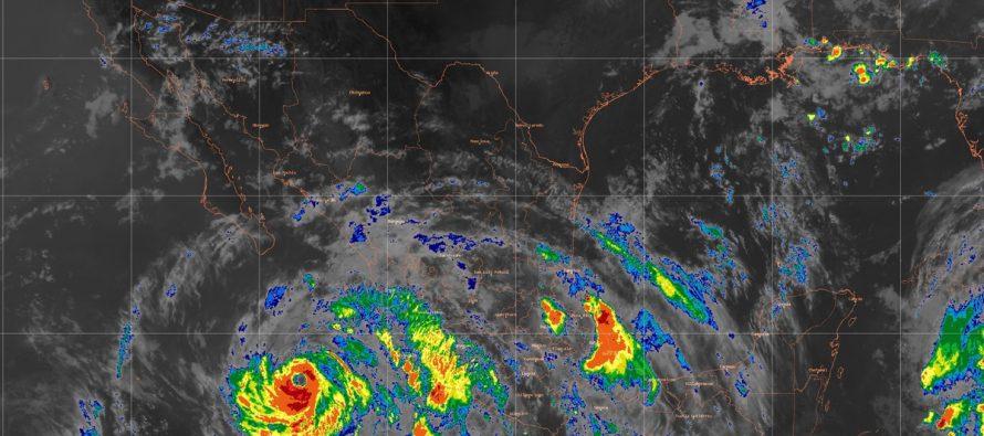 Bud originará tormentas torrenciales en Jalisco, Colima y Michoacán, y posibles trombas en las costas de esas entidades