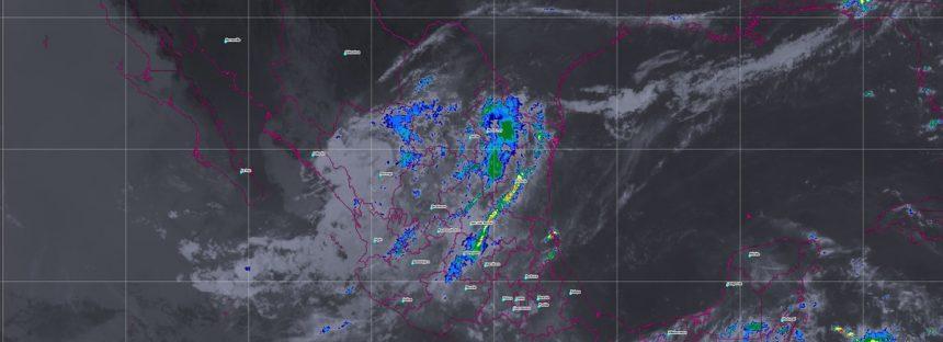 Se prevén tormentas intensas en áreas de Chiapas, así como tormentas muy fuertes en regiones de Oaxaca y Tabasco