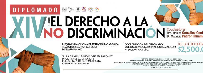 XIV Diplomado sobre el derecho a la no discriminación