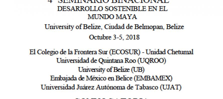 4to seminario binacional desarrollo sostenible en el mundo Maya