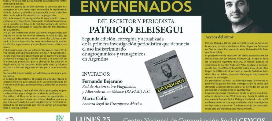 Presentación del libro Envenenados por el escritor y periodista Patricio Eleisegui