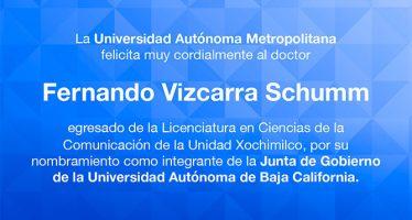 Felicitación al doctor Fernando Vizcarra Schumn