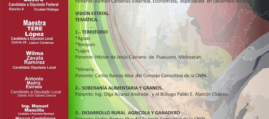 Movimiento campesino Plan de Ayala invitan al foro del campo
