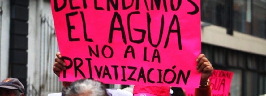 5% de agua superficial a privatización en México