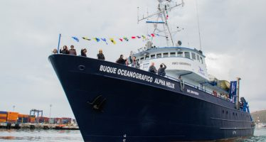 Alpha Helix, barco oceanográfico del CICESE, cruza canal de Panamá y rescata valioso anclaje científico en Atlántico