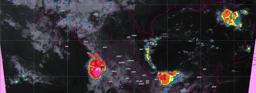 En las siguientes horas se prevén tormentas intensas en Veracruz, Oaxaca y Chiapas