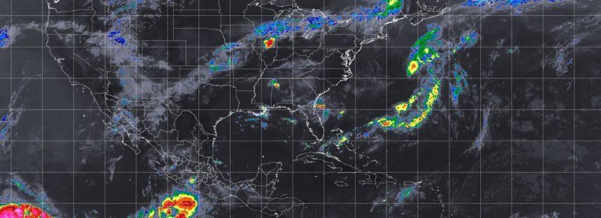 Temporal de lluvias con actividad eléctrica, vientos fuertes y posible granizo en la mayor parte de México